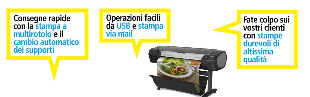 Stampante HP DesignJet Z5400: noleggio tasso zero e supervalutazione usato