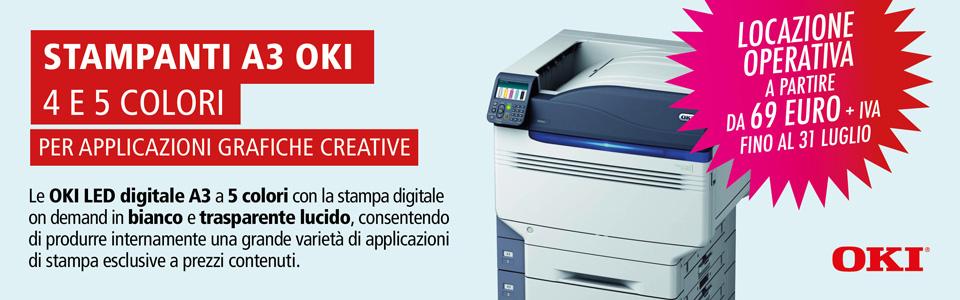 Promo Viscom 2017 Stampanti Oki SA3 4 e 5 colori