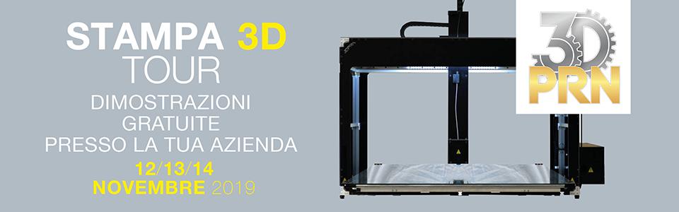 Stampa 3D TOUR – 21/22 gennaio 2020